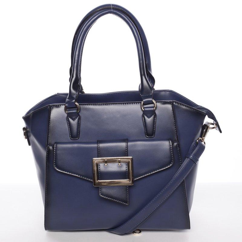 Pevná business dámská kabelka Vanesa, modrá