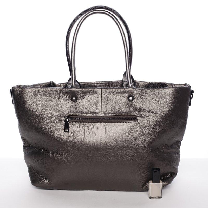 Elegantní dámská kabelka Victoria, stříbrná/šedá