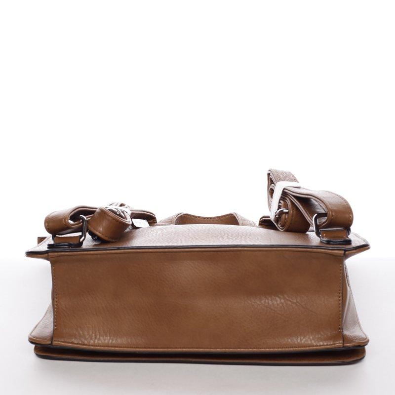 Luxusní dámský batůžek Viviana, hnědý