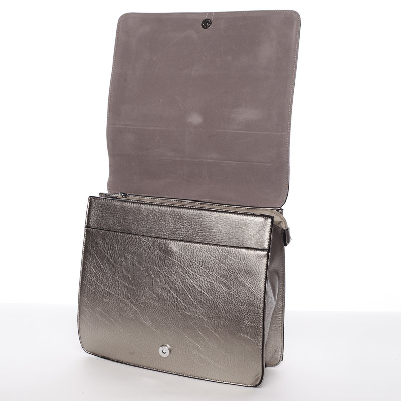 Luxusní dámský batůžek Viviana, stříbrný/šedý