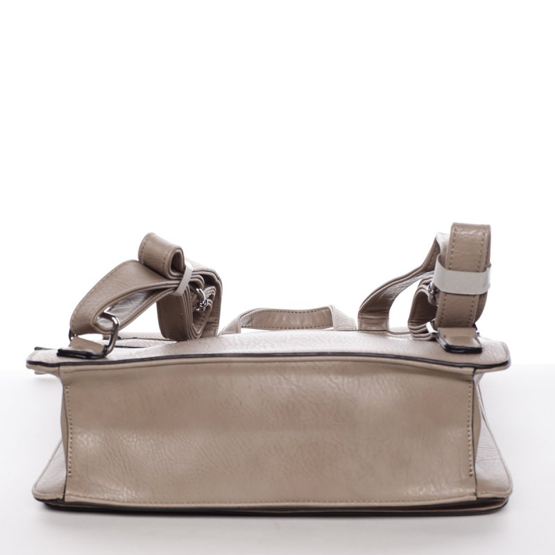 Luxusní dámský batůžek Viviana, hnědý/šedý