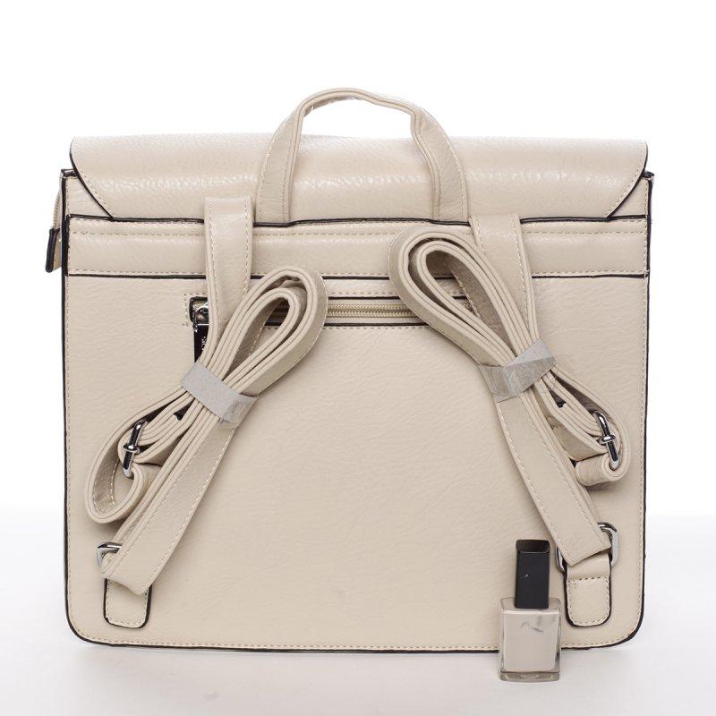 Luxusní dámský batůžek Viviana, béžový