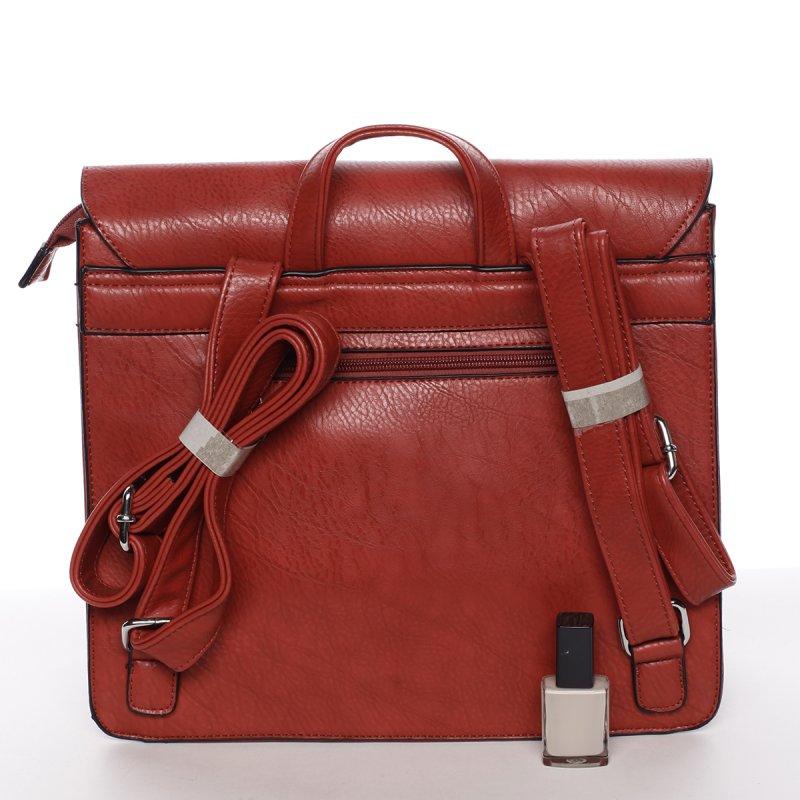 Luxusní dámský batůžek Viviana, červený