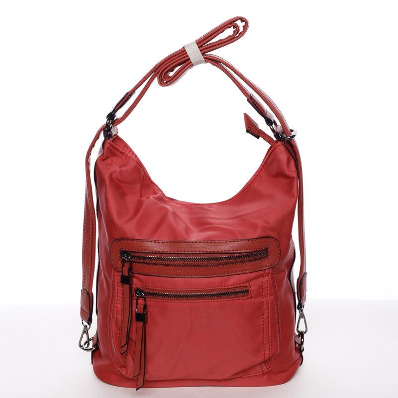 Exkluzivně lehká dámská crossbody kabelka Anna, červená