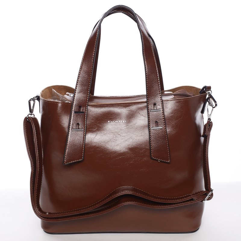 Elegantní dámská kabelka do ruky Paula, hnědá