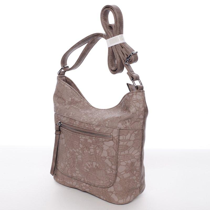 Krajková dámská crossbody kabelka Rita, růžová