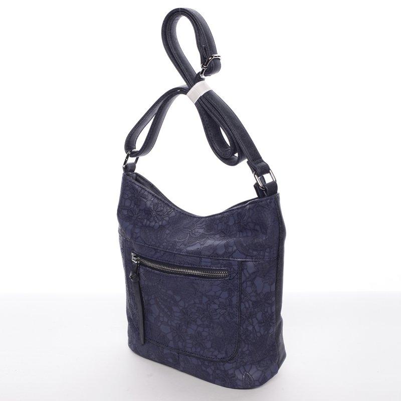 Krajková dámská crossbody kabelka Rita, modrá