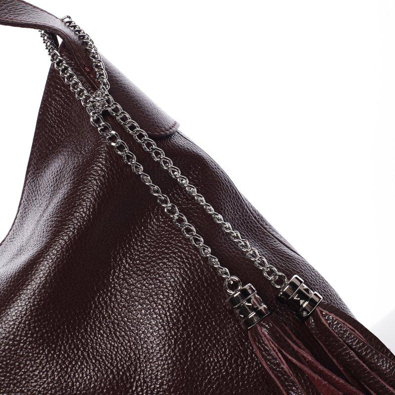 Elegantní kabelka Devon, vínově červená