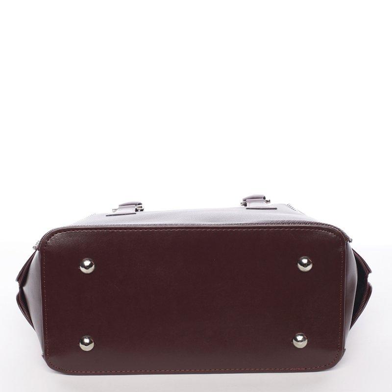 Moderní dámská kabelka Samanta, vínově červená