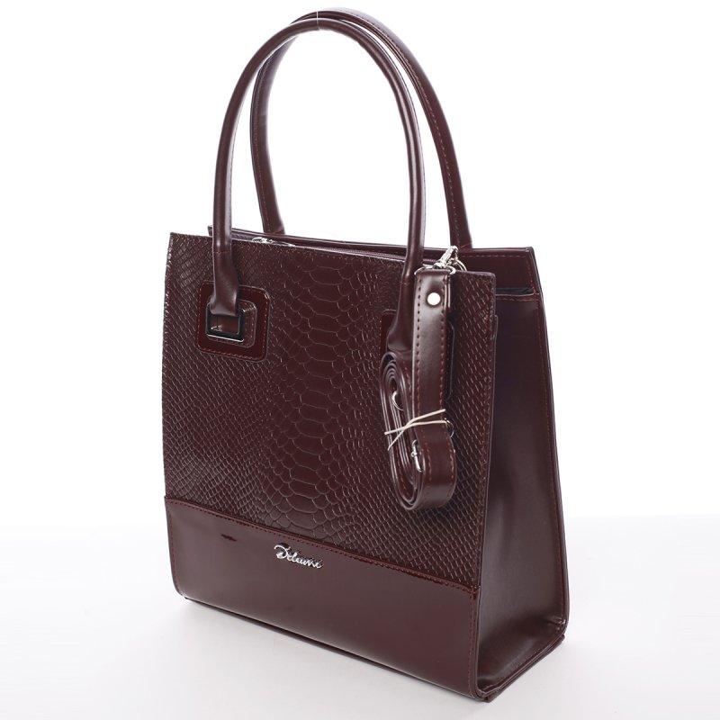 Atraktivní dámská kabelka Póla, vínově červená