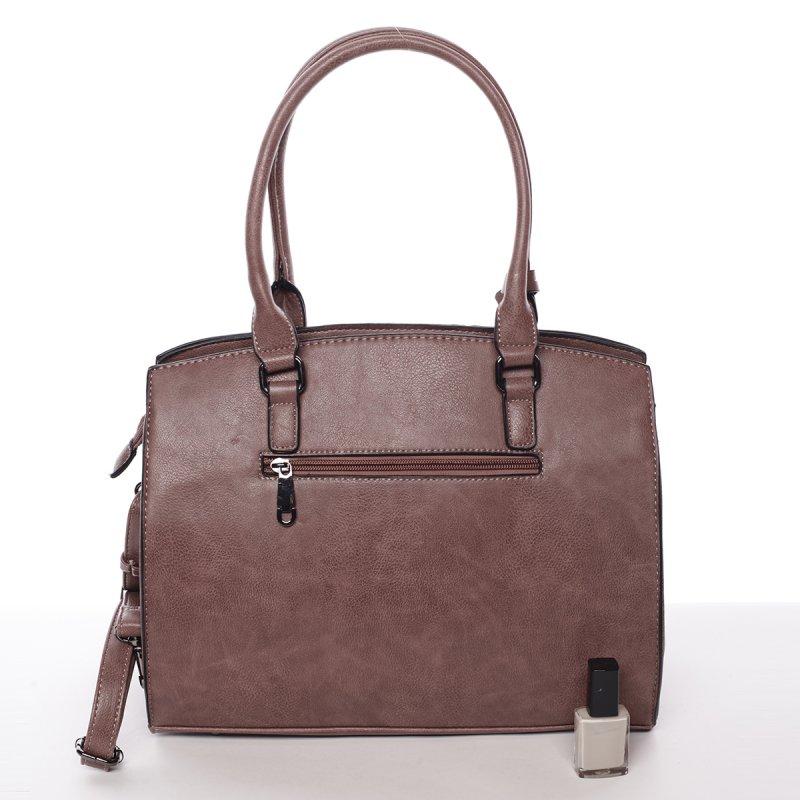 Pevná dámská kabelka Karin, růžová