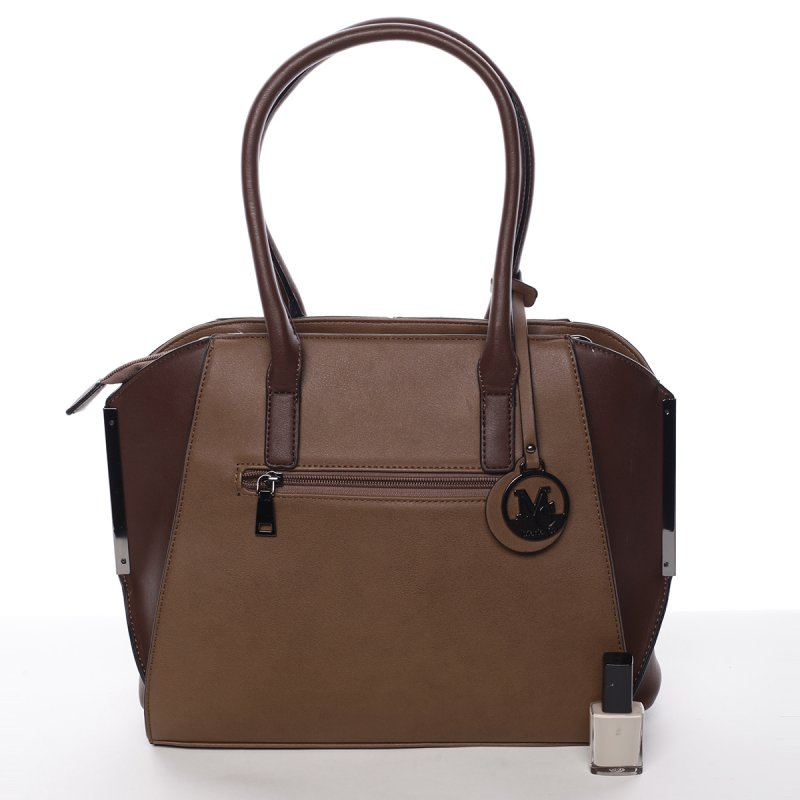 Nadčasová dámská kabelka přes rameno Loren, hnědá