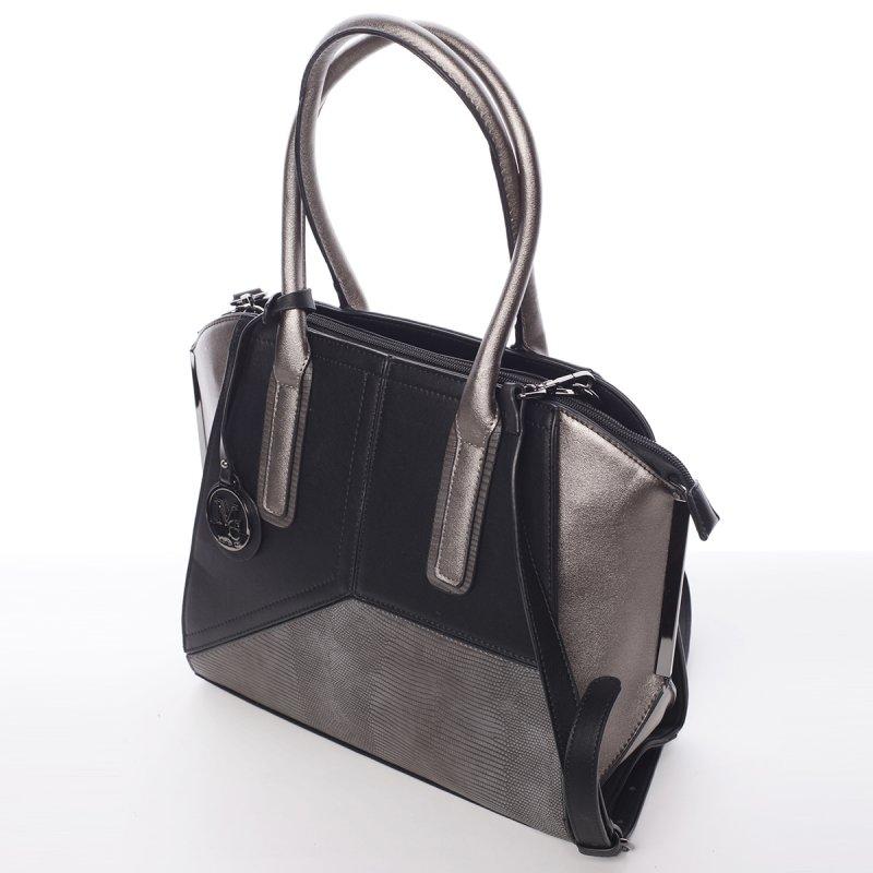 Nadčasová dámská kabelka přes rameno Loren, černá