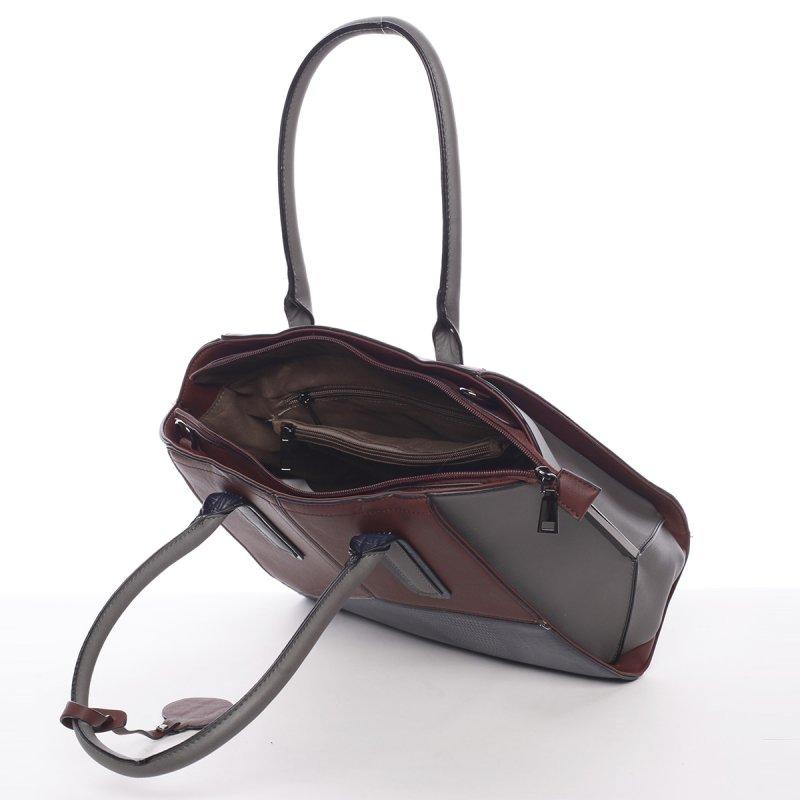 Nadčasová dámská kabelka přes rameno Loren, vínově červená