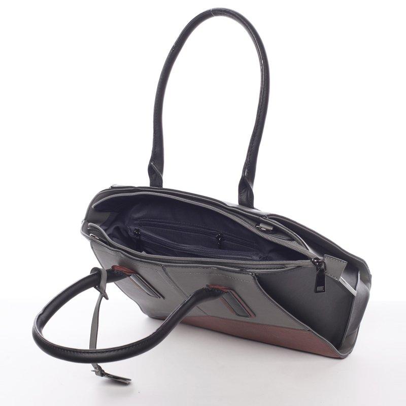 Nadčasová dámská kabelka přes rameno Loren, šedá