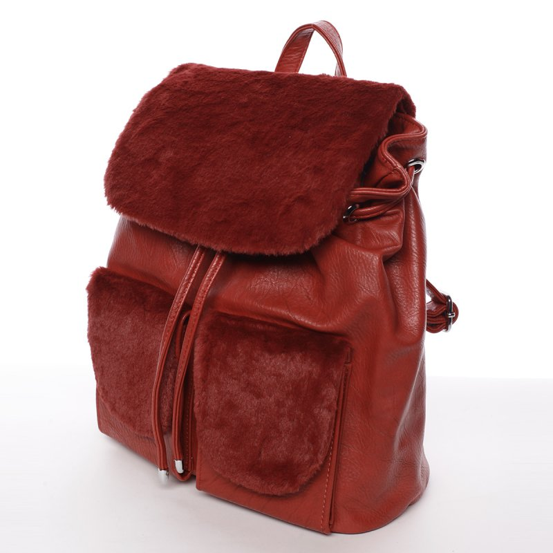 b6c43adc12 Elegantní dámský batoh s kožíškem Šantel
