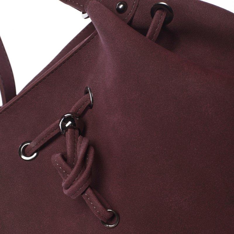 Elegantní dámská kabelka přes rameno Naomi, vínově červená