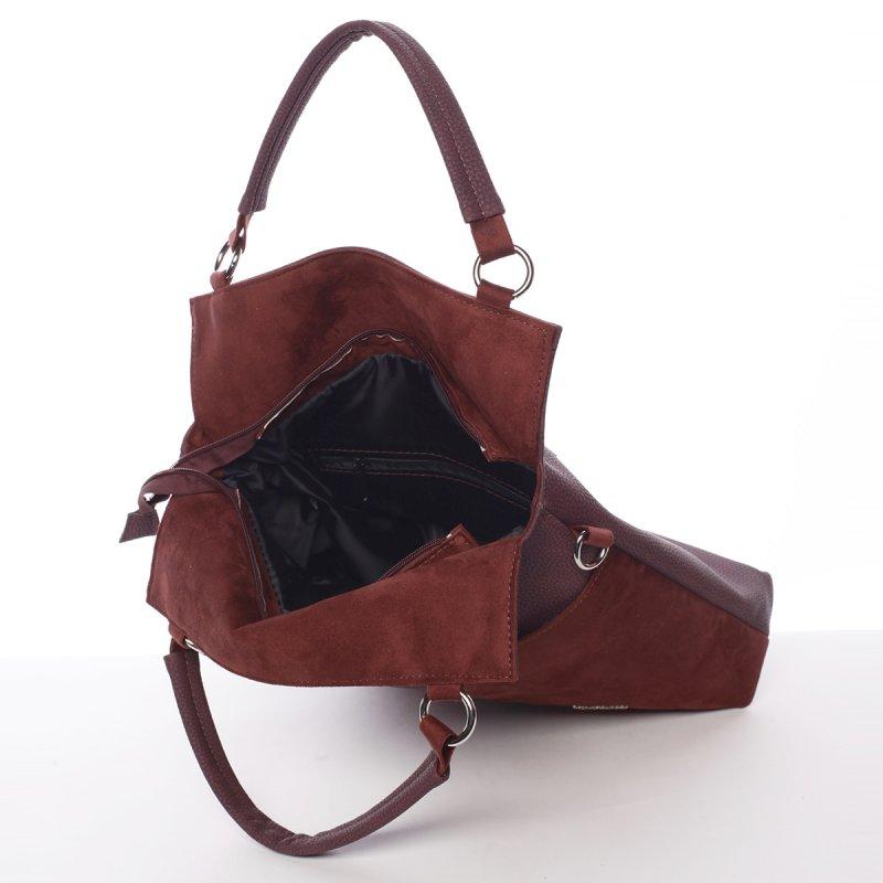 Stylová dámská kabelka Michelle, vínově červená