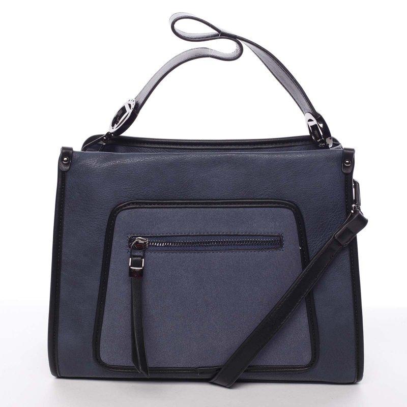 Pevná dámská kabelka Karmen, modrá