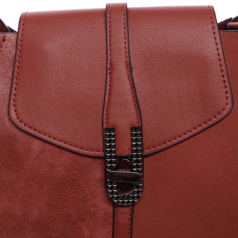 Elegantní dámská crossbody kabelka Lauren, červená