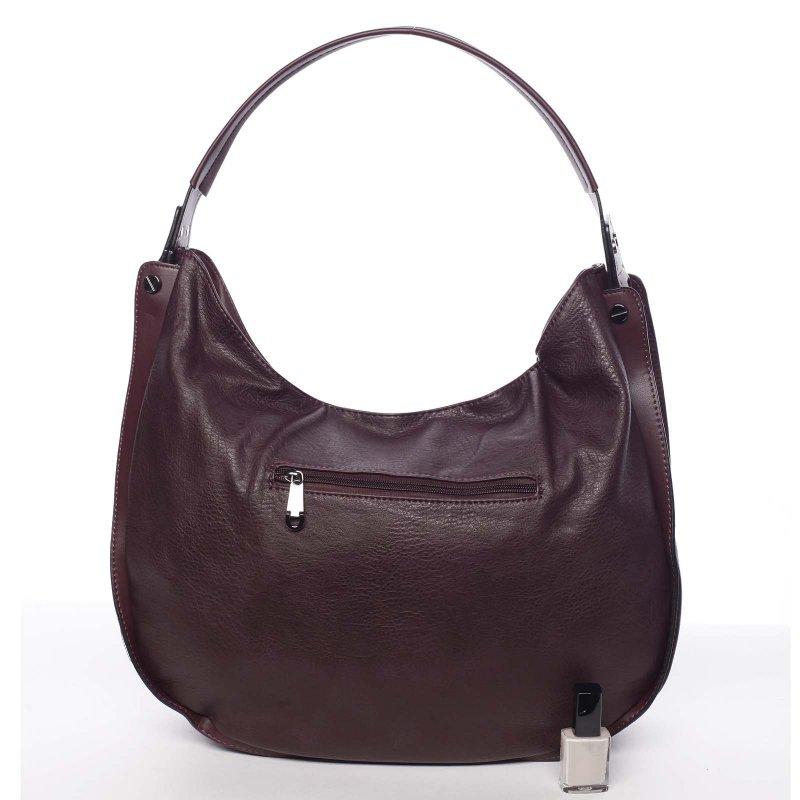 Měkká dámská kabelka Holly, vínově červená