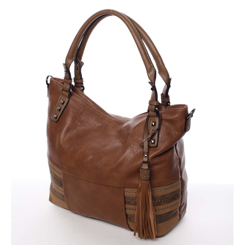 Hnědá dámská kabelka do ruky Laura