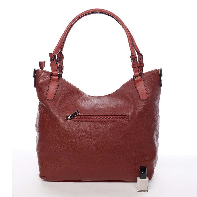Červená dámská kabelka do ruky Laura