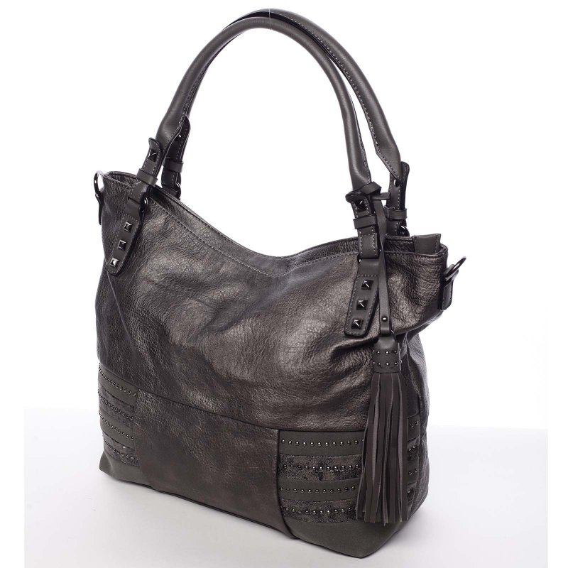 Šedá dámská kabelka do ruky Laura