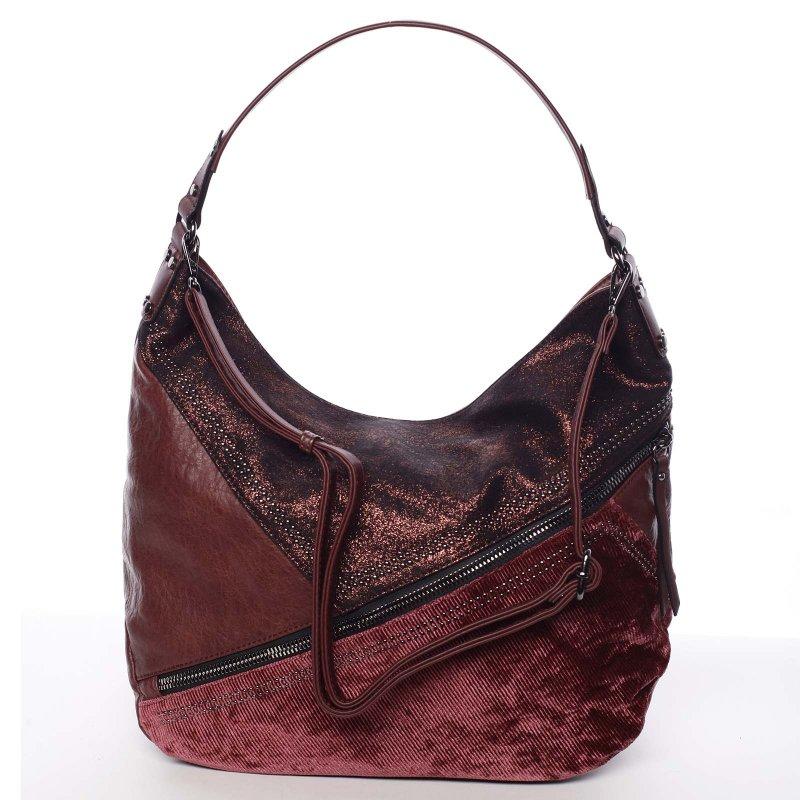 Měkká dámská kabelka Debora, vínově červená