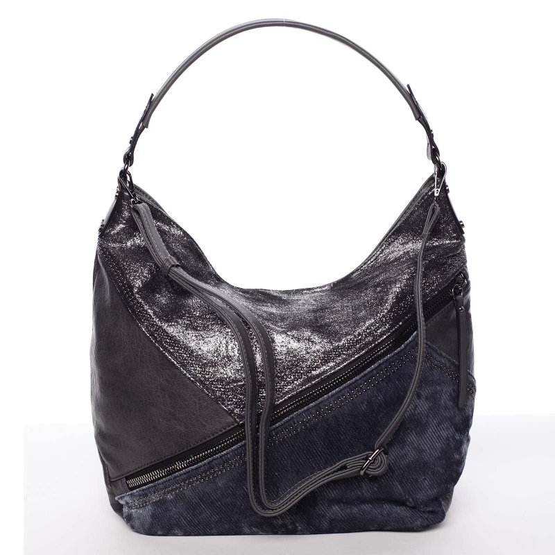 Měkká dámská kabelka Debora, šedá