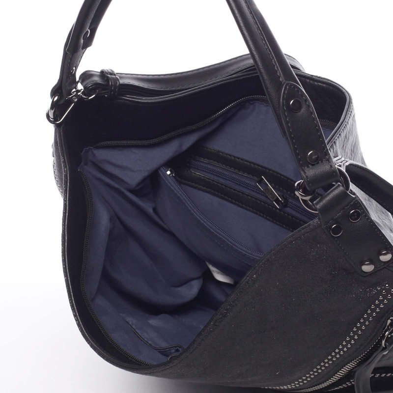 Měkká dámská kabelka Debora, černá