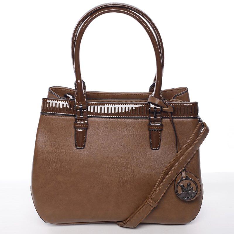 Moderní dámská kabelka Kornel, hnědá