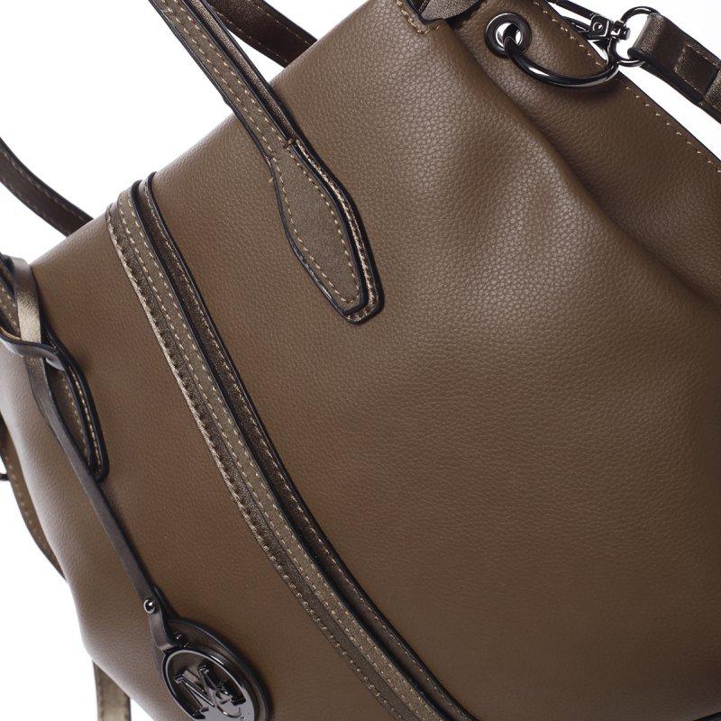 Trendy dámská kabelka Selena, hnědá