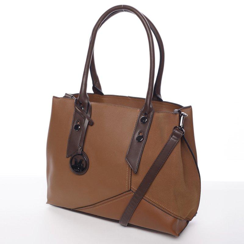 Extravagantní dámská kabelka Dara, hnědá