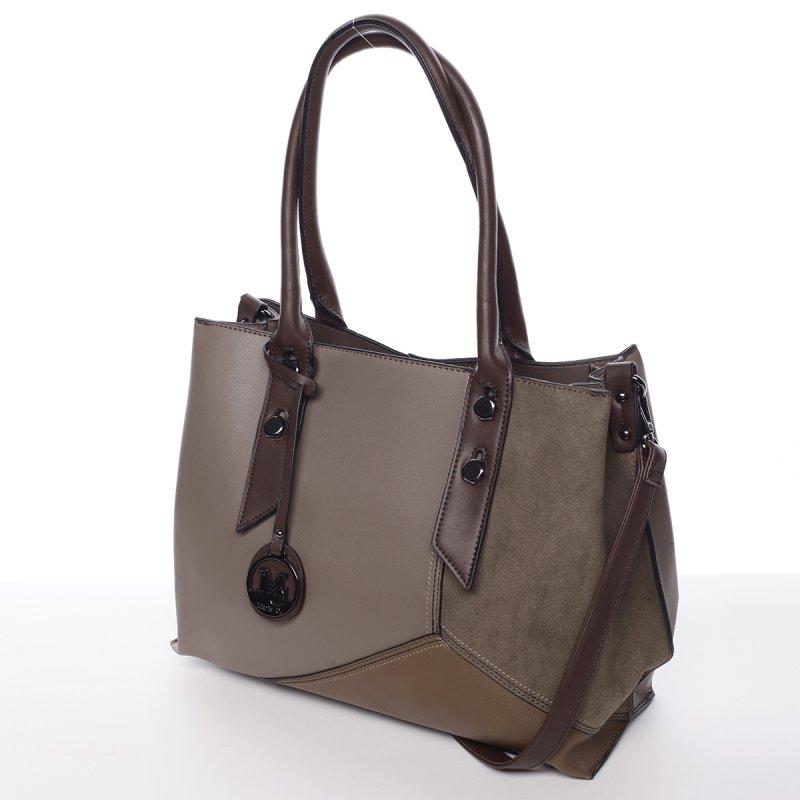 Extravagantní dámská kabelka Dara, šedá/hnědá