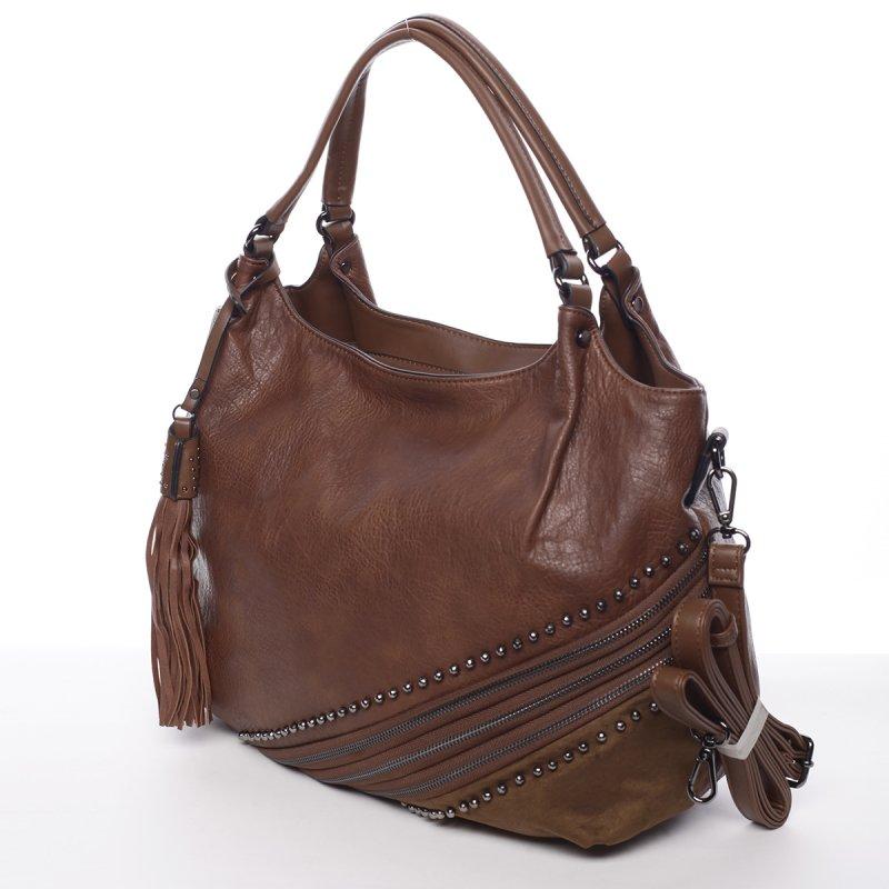 Měkká dámská kabelka Valerie, hnědá