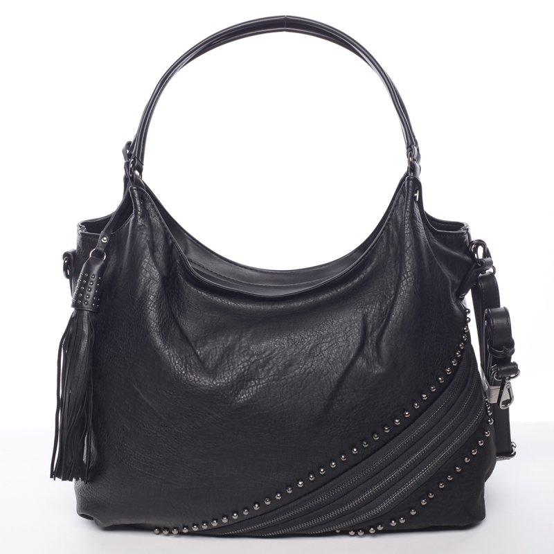 Měkká dámská kabelka Valerie, černá