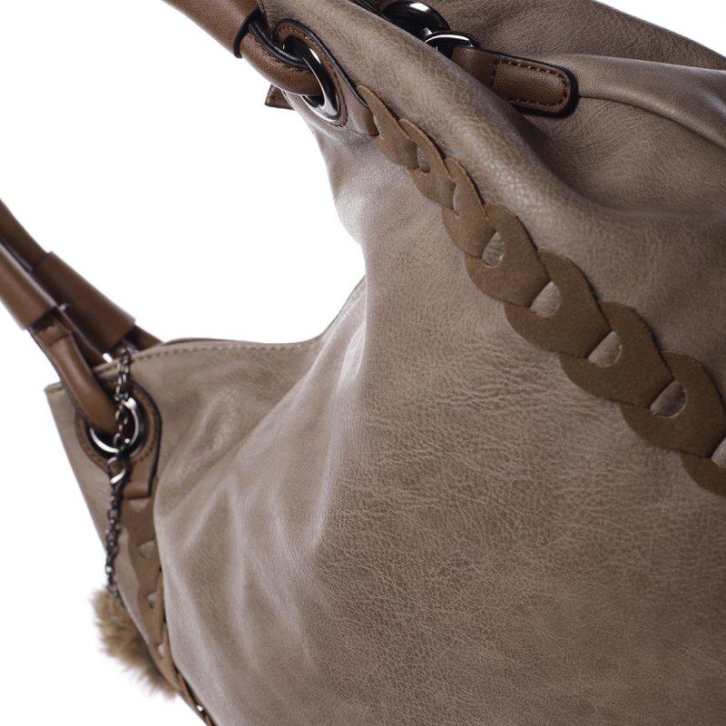 Originální dámská kabelka Bianca, hnědá