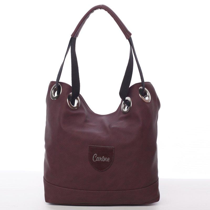 Dámská kabelka přes rameno Ariela, vínově červená