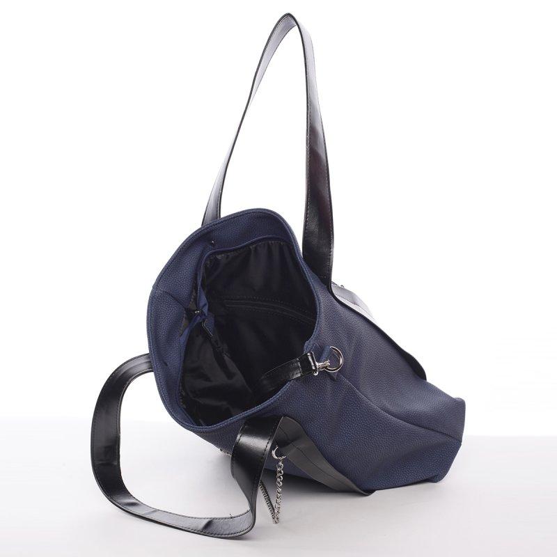 Měkká dámská kabelka Amálie, modrá