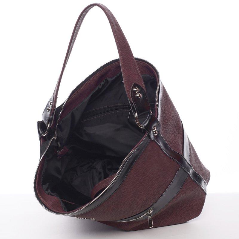Vínově červená, dámská kabelka Azaela
