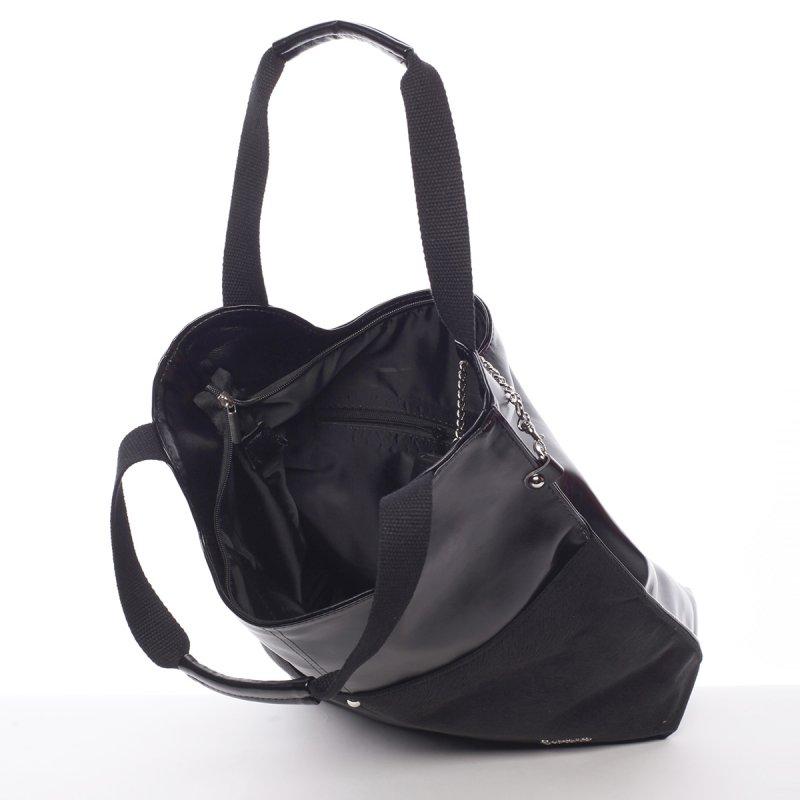 Propracovaná dámská kabelka Barbarita, černá