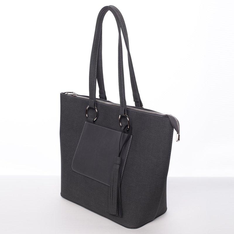 Trendy dámská kabelka do ruky Charlotta, šedá