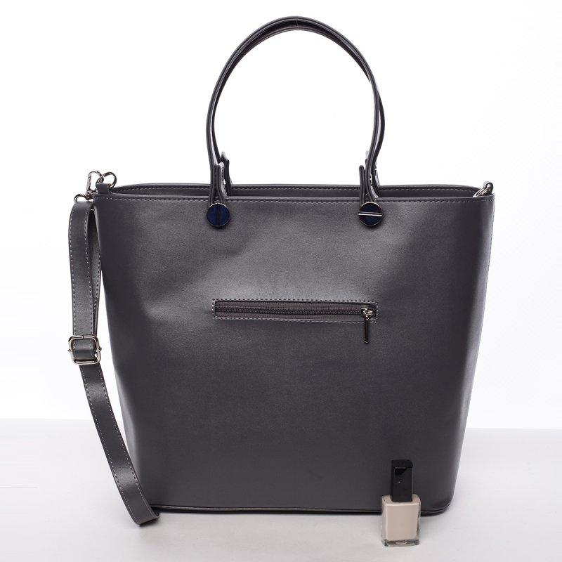 Atraktivní kabelka Helen, šedá hladká