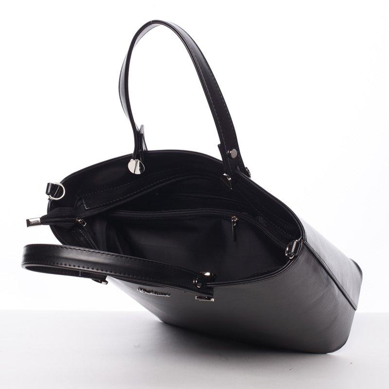 Atraktivní kabelka Helen, černá hladká