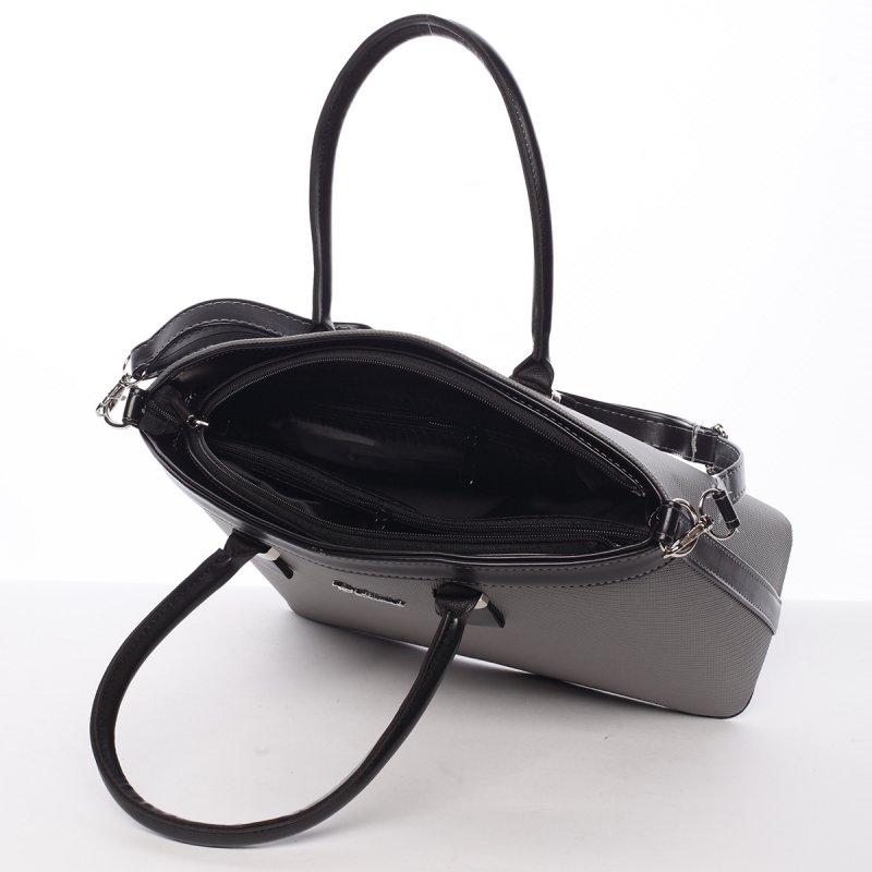 Luxusní kabelka do ruky Monique, šedá
