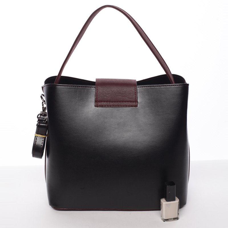 Lehoučká dámská kabelka Žanet, černá/bordo