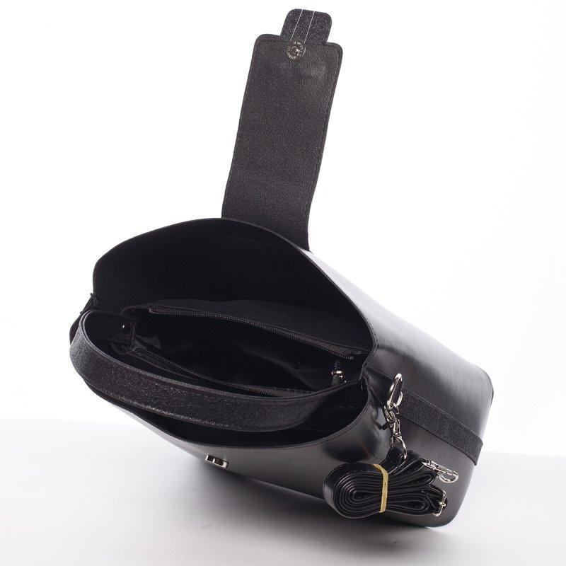 Lehoučká dámská kabelka Žanet, černá/ graf