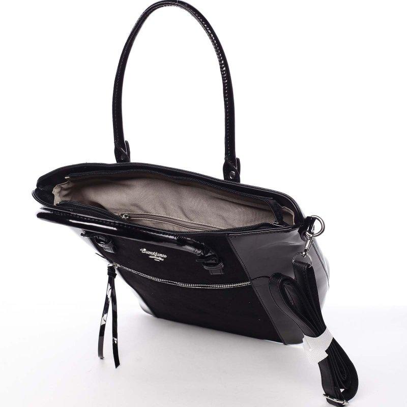 Noblesní dámská kabelka Viktorie, černá