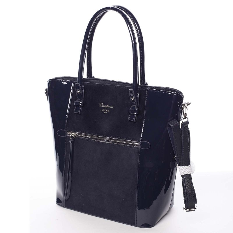 Noblesní dámská kabelka Viktorie, modrá